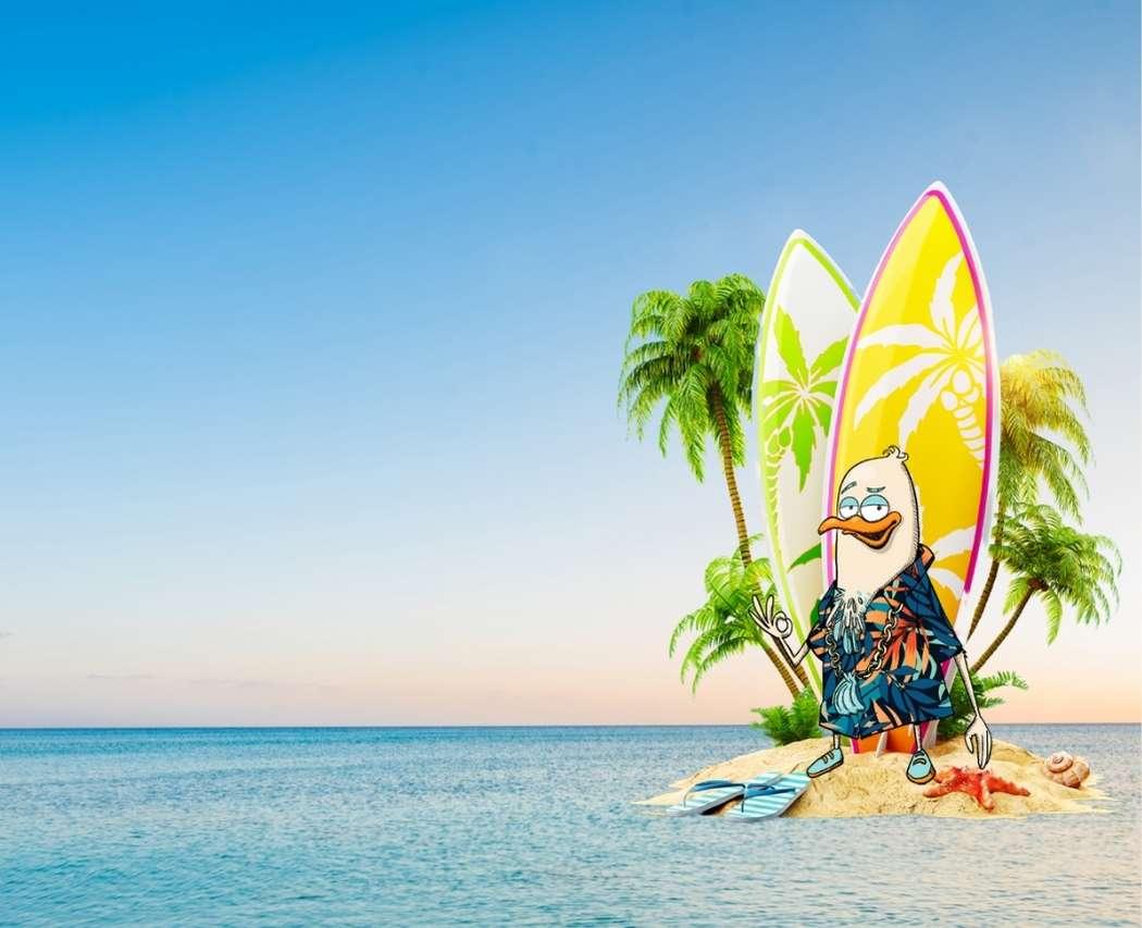 Passe l'été aux côtés des mascottes Juliette ! Edgar qui surfe ? Un peu de motivation ? Une balade en bateau ? Un beau portrait ? 🍋