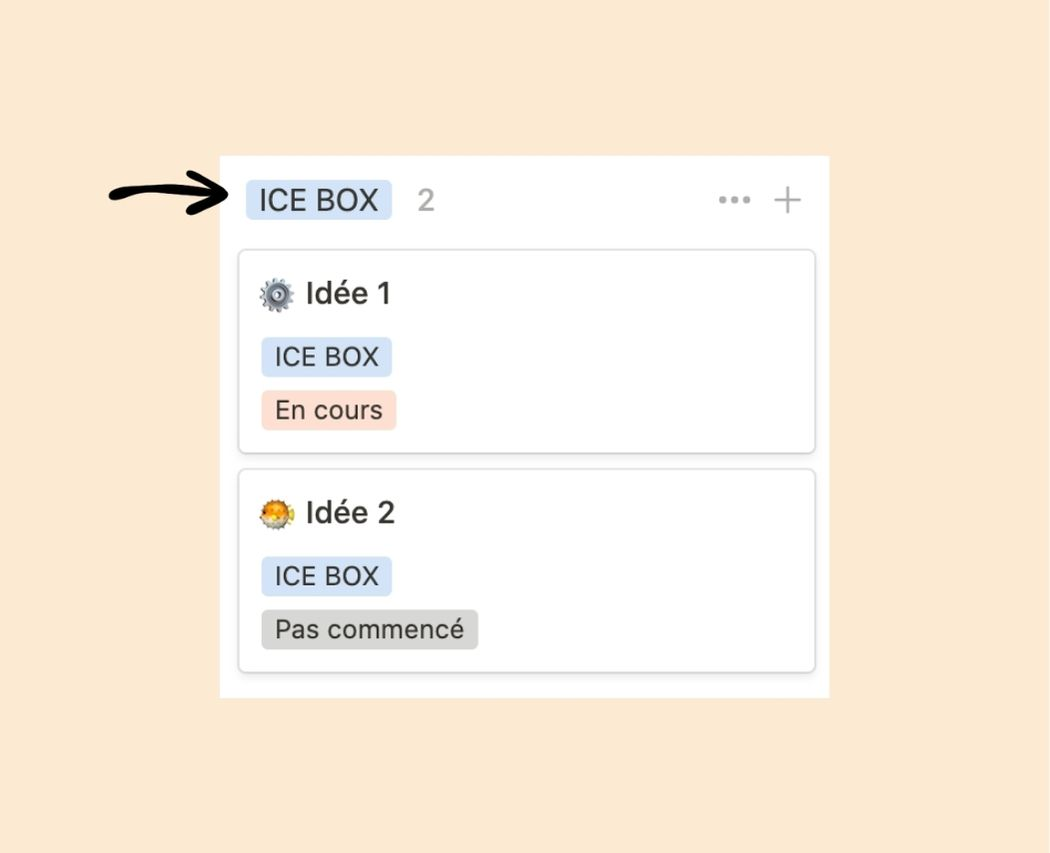 Ice box boite a idee to do list