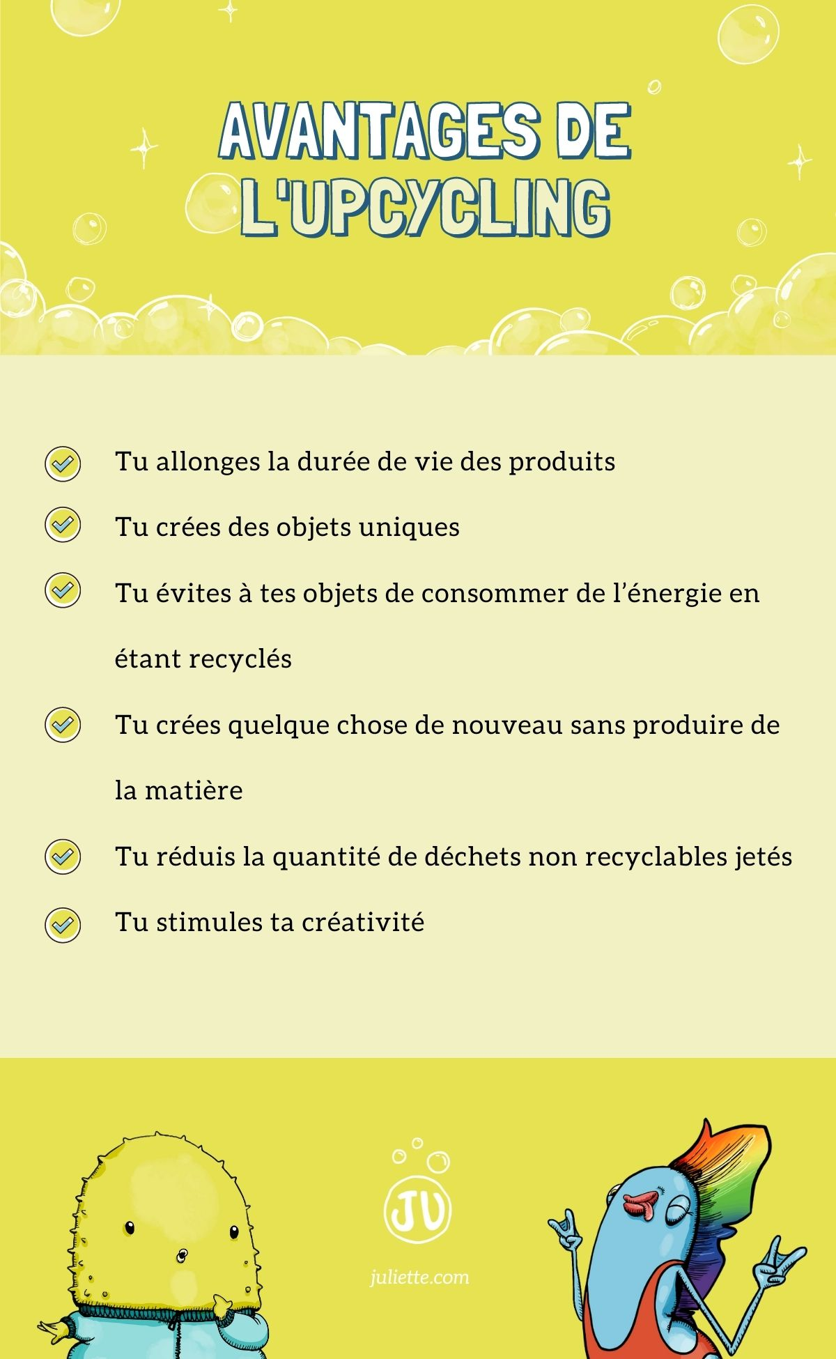 Infographie avantage upcycling