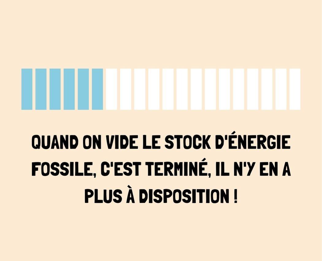 Energie fossile est non-renouvelable