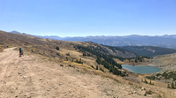 View at the top of Corona Pass Road