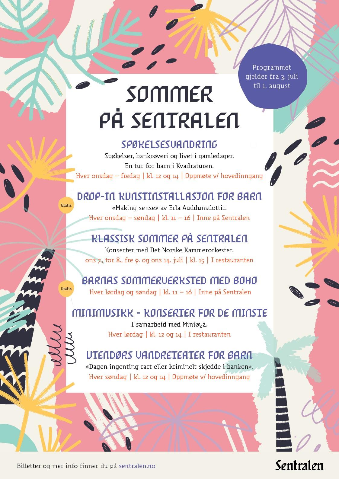 Sommer på Sentralen-plakat