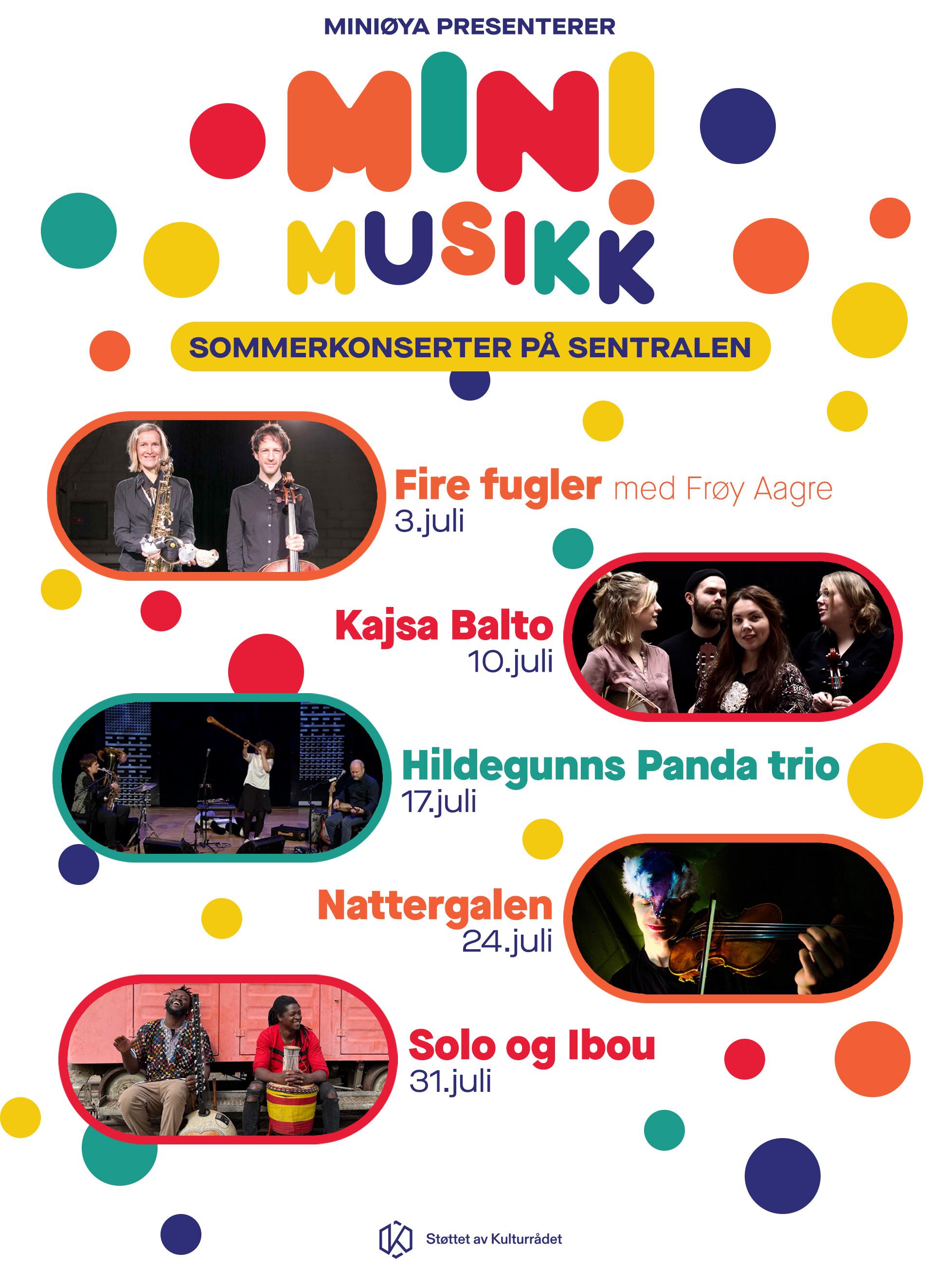Fire Fugler med Frøy Aagre - Minimusikk på Sommer på Sentralen