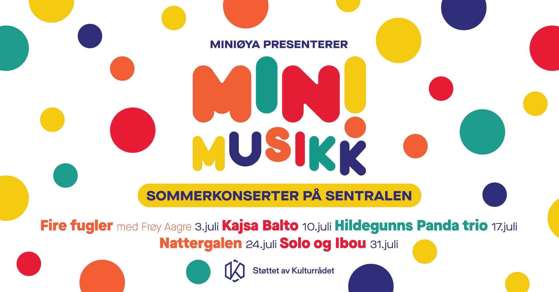 Sommerkonserter - Fire fugler med Frøy Aagre - Kajsa Balto - Hildegunns Panda Trio - Nattergalen - Solo og Ibou