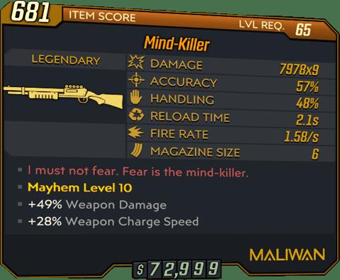 Mind-Killer (Shotgun-BL3)
