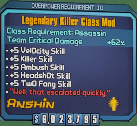 Legendary Killer (Zer0-BL2)