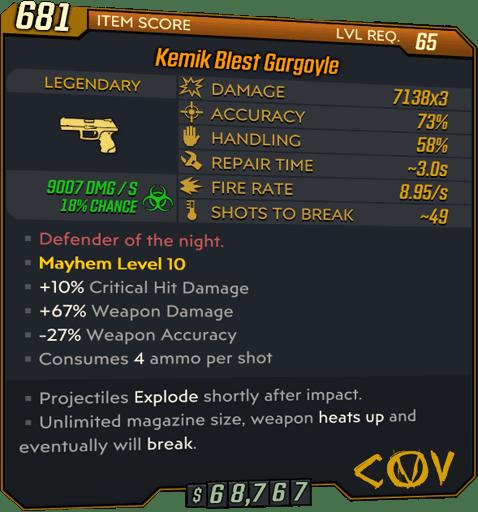 Gargoyle (Pistol-BL3)
