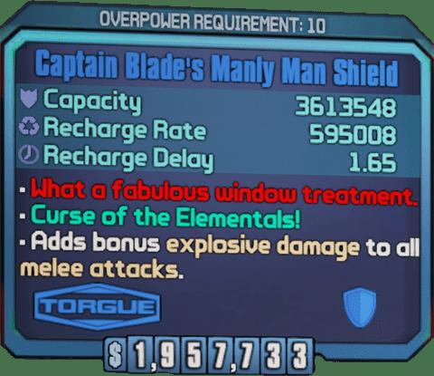 Manly Man Shield (BL2)