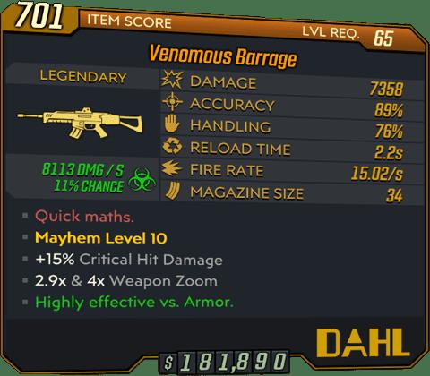 Barrage (AR-BL3)