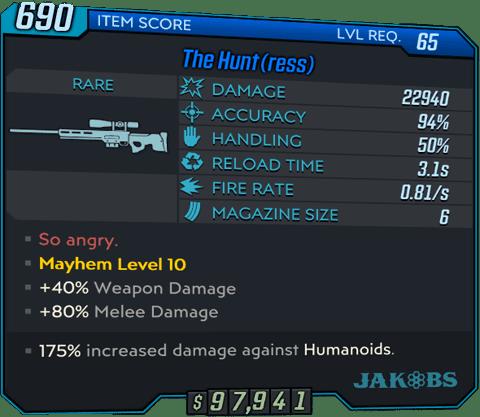The Hunt(ress) (Sniper-BL3)