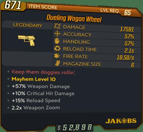 Wagon Wheel (Pistol-BL3)