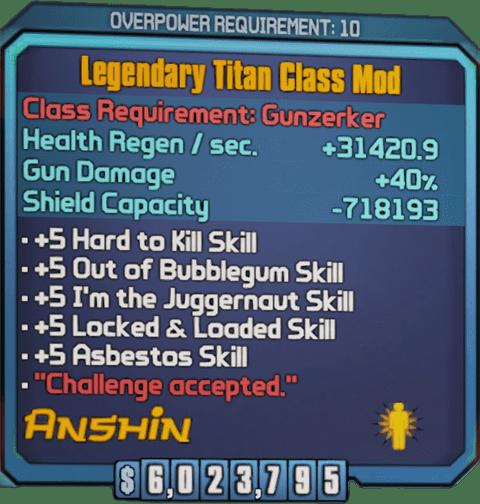 Legendary Titan (Salvador-BL2)