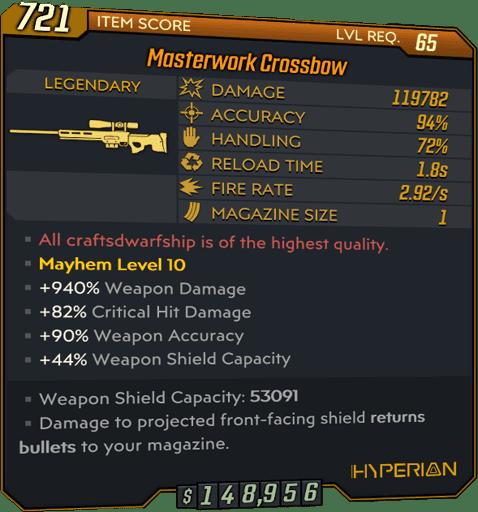 Masterwork Crossbow (Sniper-BL3)
