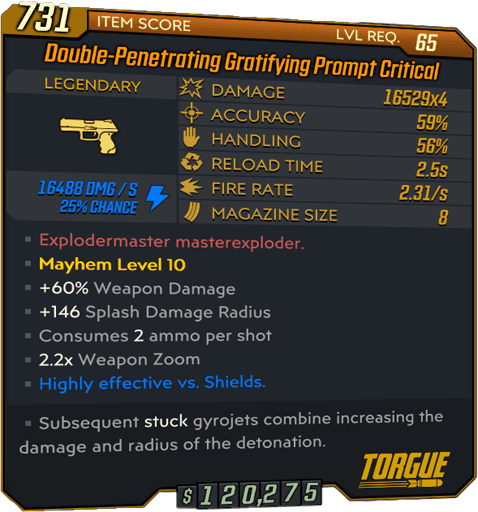 Prompt Critical (Pistol-BL3)