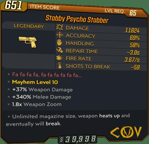 Psycho Stabber (Pistol-BL3)