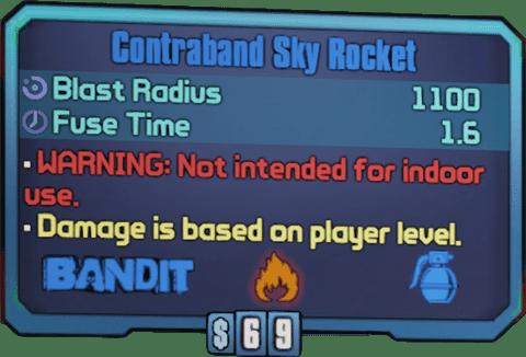 Contraband Sky Rocket (BL2)
