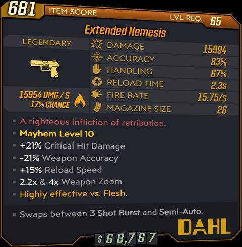 Nemesis (Pistol-BL3)