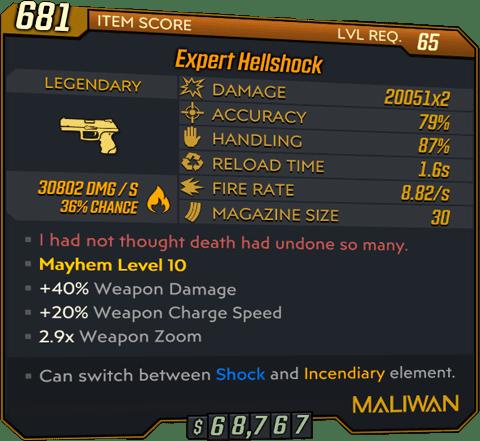Hellshock (Pistol-BL3)
