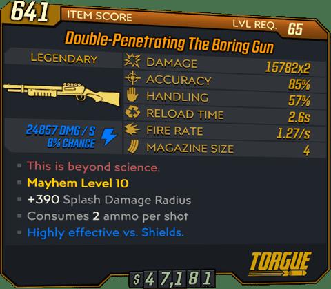 The Boring Gun (Shotgun-BL3)