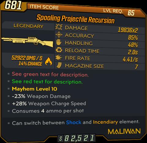 Projectile Recursion (Shotgun-BL3)