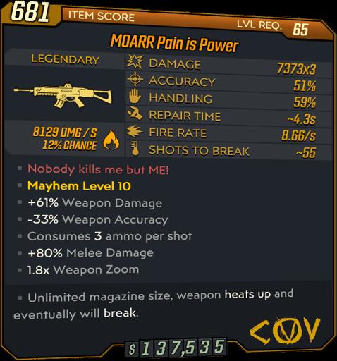 Pain is Power (AR-BL3)