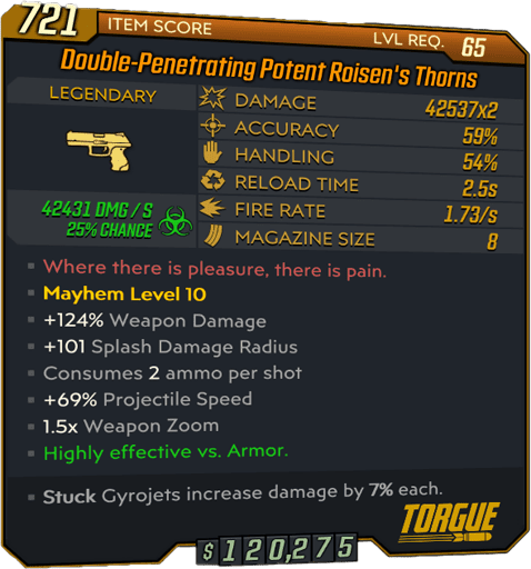 Roisen's Thorns (Pistol-BL3)