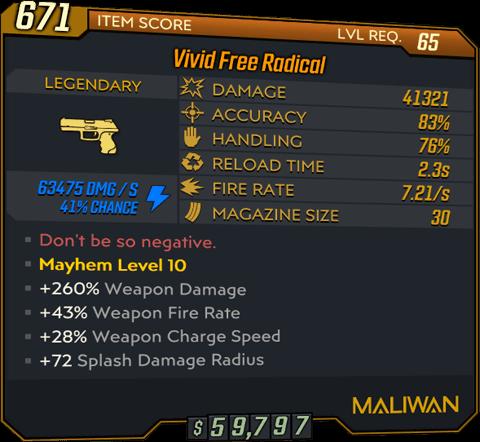 Free Radical (Pistol-BL3)