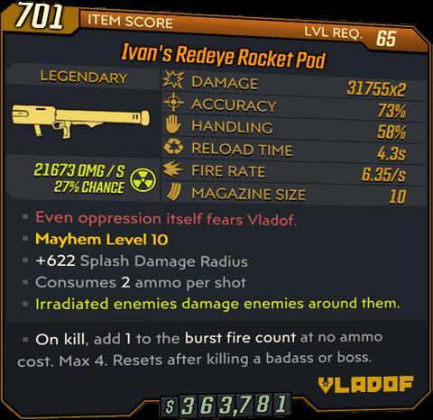 Redeye Rocket Pod (Launcher-BL3)