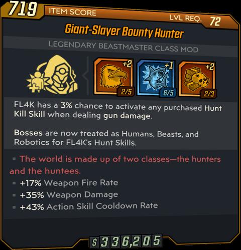 Bounty Hunter (FL4K-BL3)