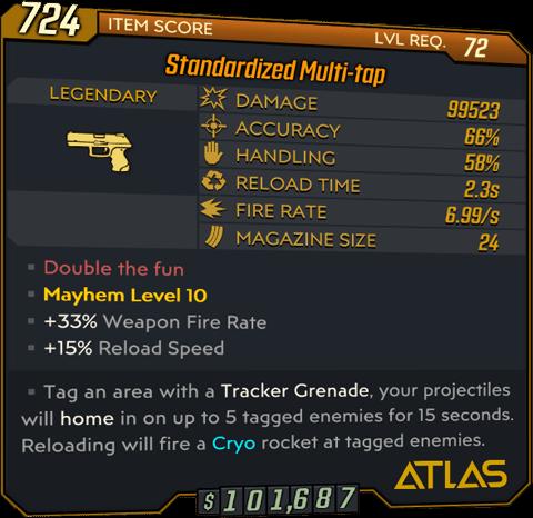 Multi-tap (Pistol-BL3)
