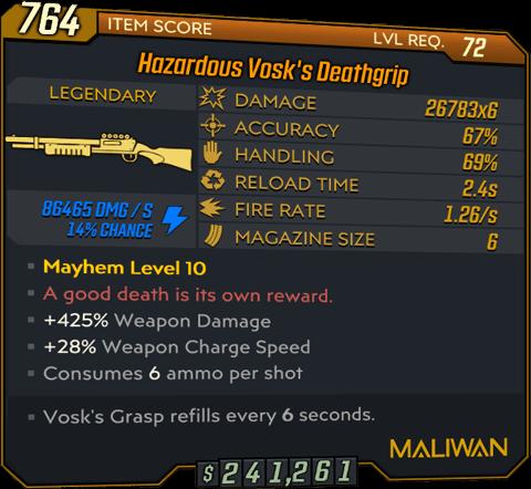 Vosk's Deathgrip (Shotgun-BL3)