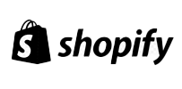 The logo of Shopify.