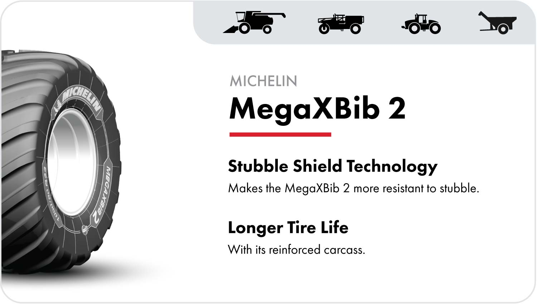 Michelin MegaXBib 2 grain cart tires