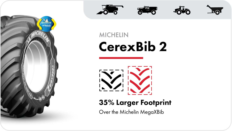 Michelin CerexBib 2 grain cart tire