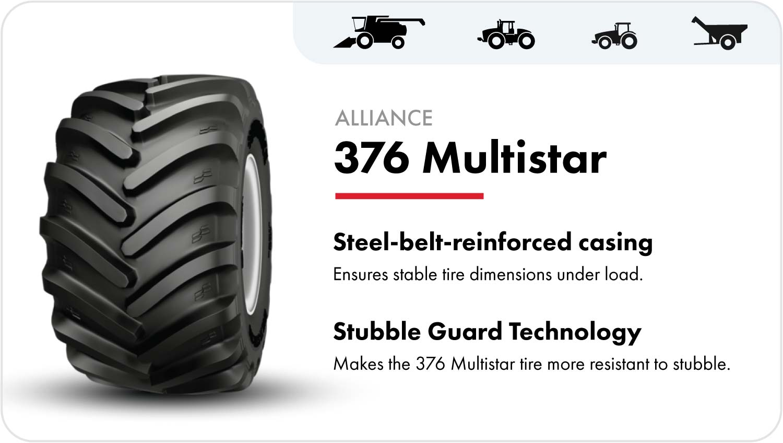 Alliance 376 Multistar grain cart tire