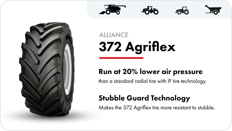Alliance 372 Agriflex grain cart tire