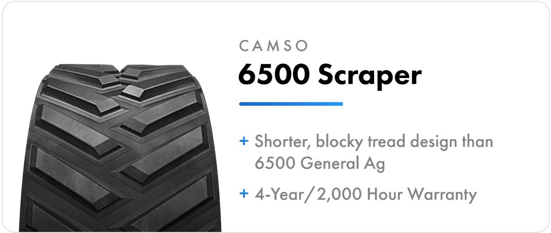 Camso 6500 Scrapper Ag track for John Deere 9RX series tractors