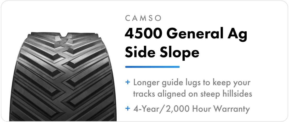 Camso 2500 General Ag Side Slope track for John Deere 8RT series tractors