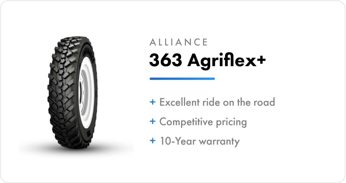 New VF Sprayer Tires Alliance 363 Agriflex+