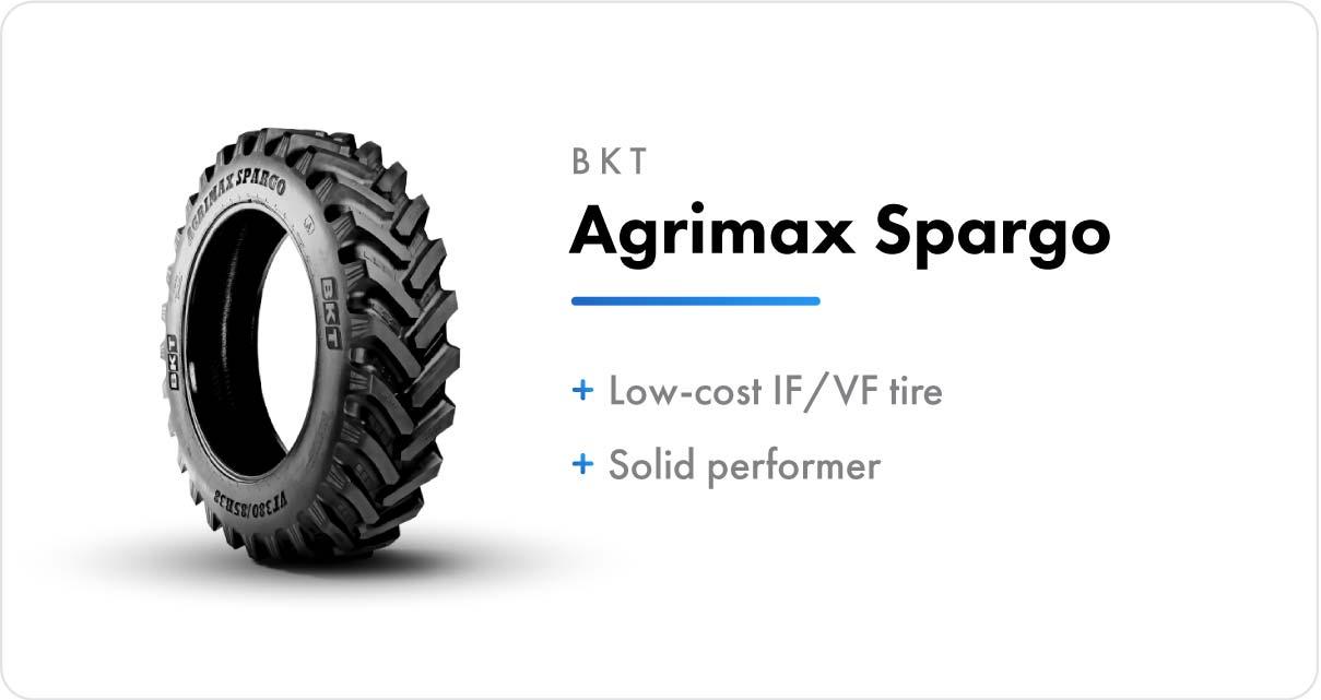 New VF Sprayer Tires BKT Agrimax Spargo