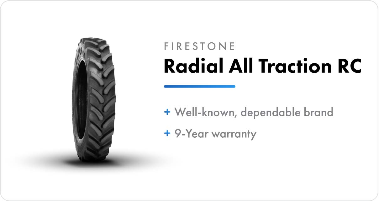 New VF Sprayer Tires Firestone Radial All Traction RC