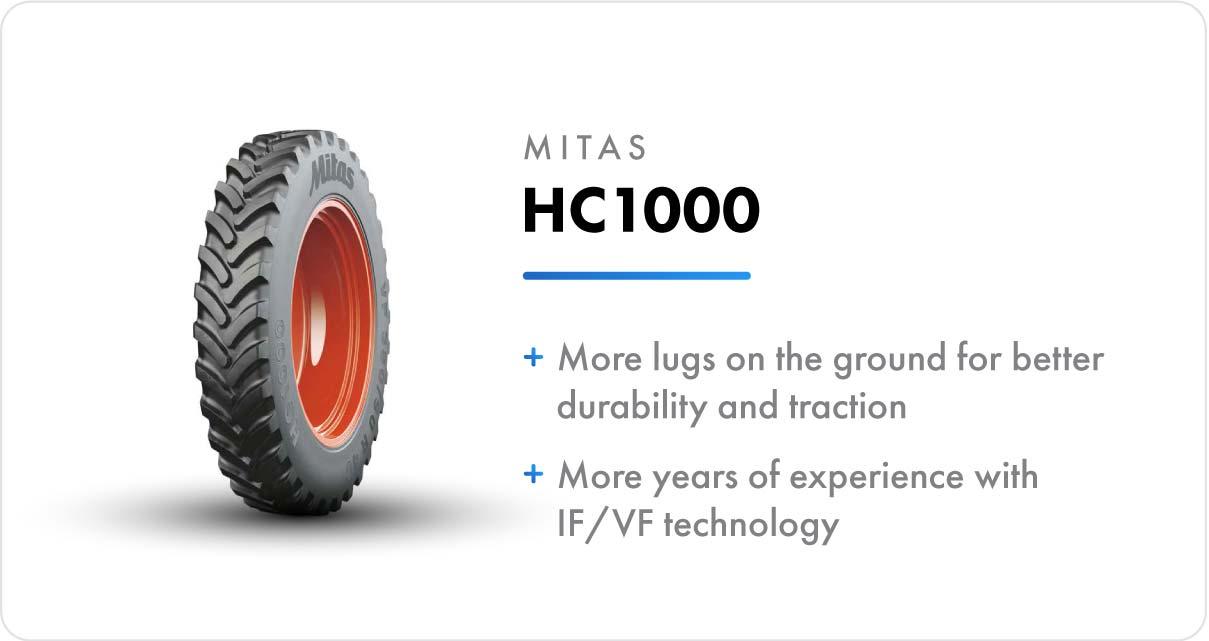 New VF Sprayer Tires Mitas HC1000