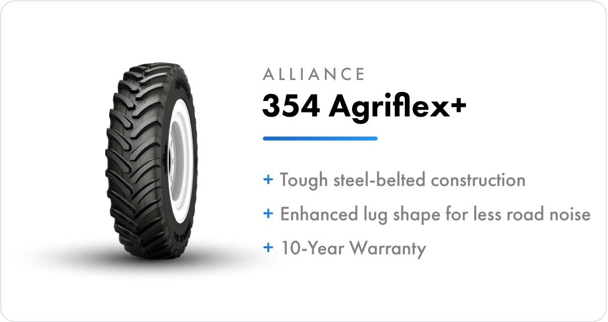 New VF Sprayer Tires Alliance 354 Agriflex+