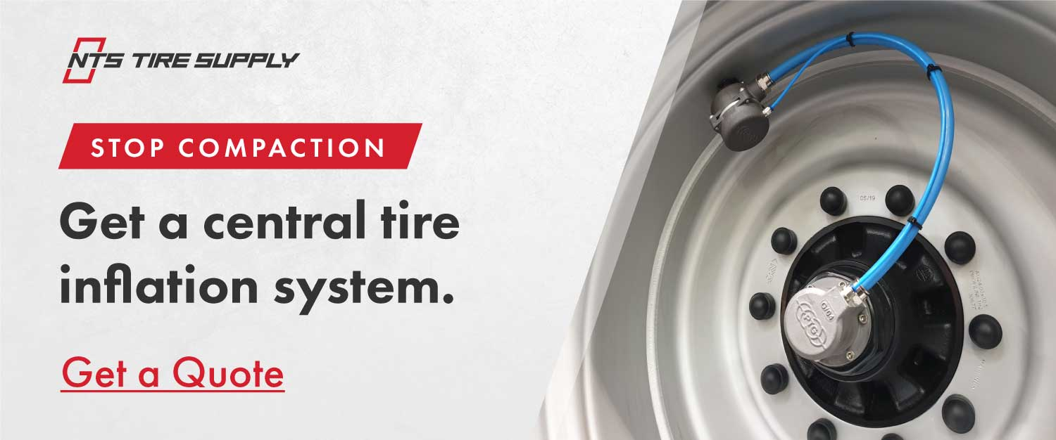 Stop compaction with a central tire inflation system. Get a quote from NTS Tire Supply.
