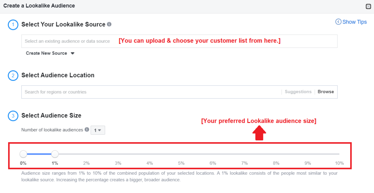 Audience targeting for Facebook marketing