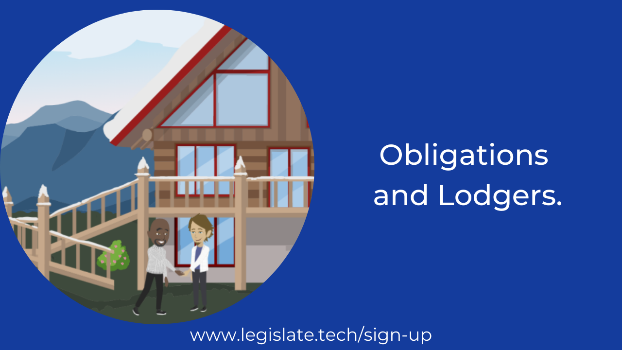 Landlords: Your obligations when taking in a lodger.