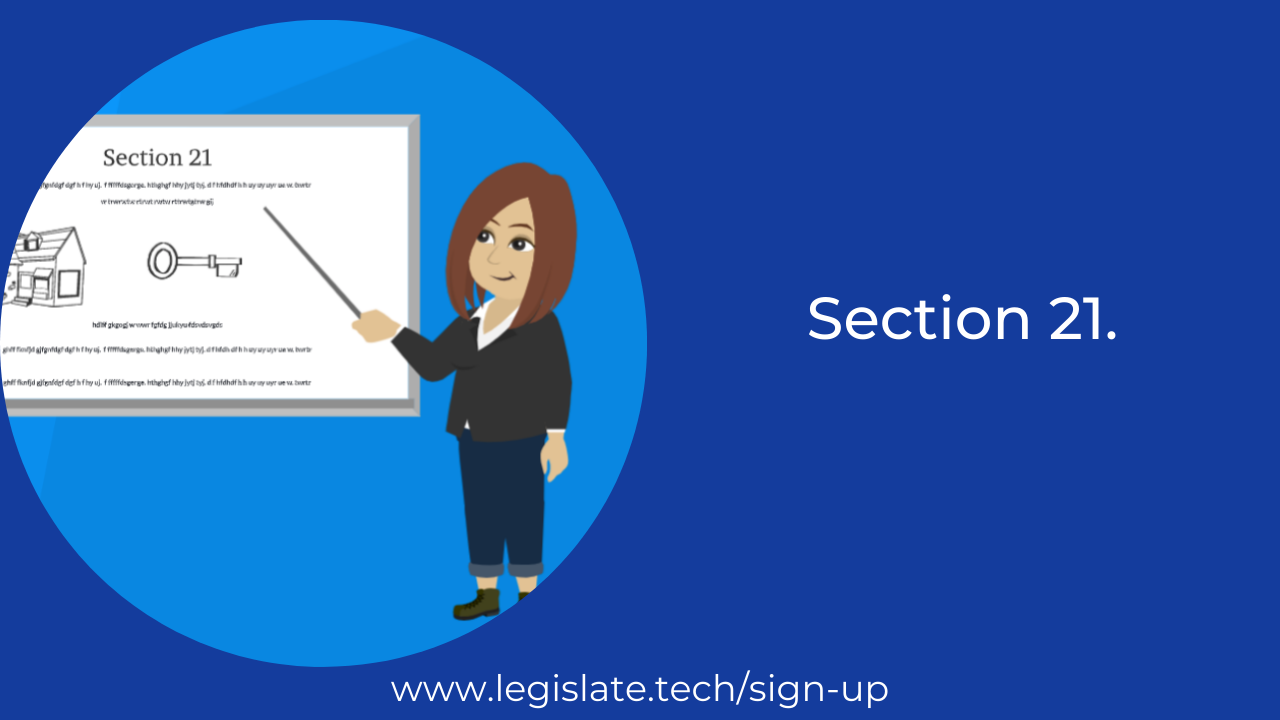 Update on Section 21 Notices