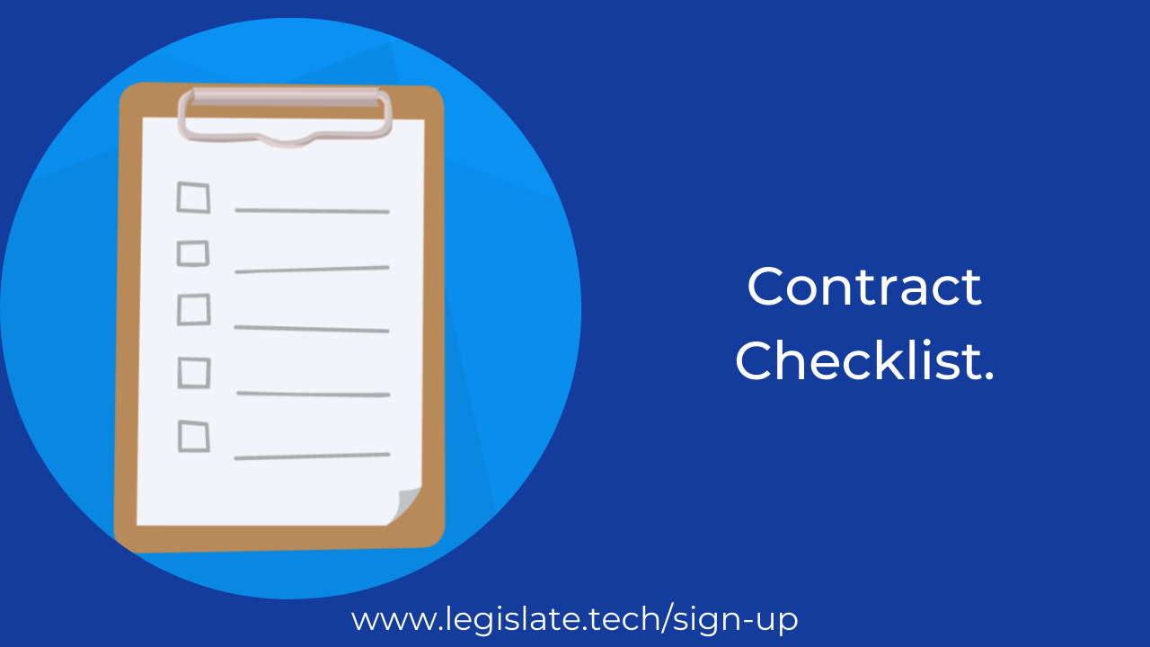 A Checklist for contracts.