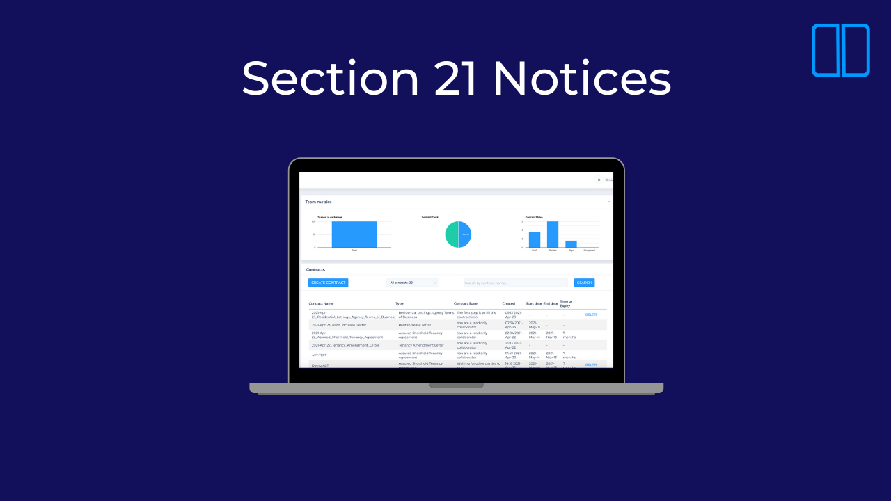 An introduction to section 21 notices on Legislate.