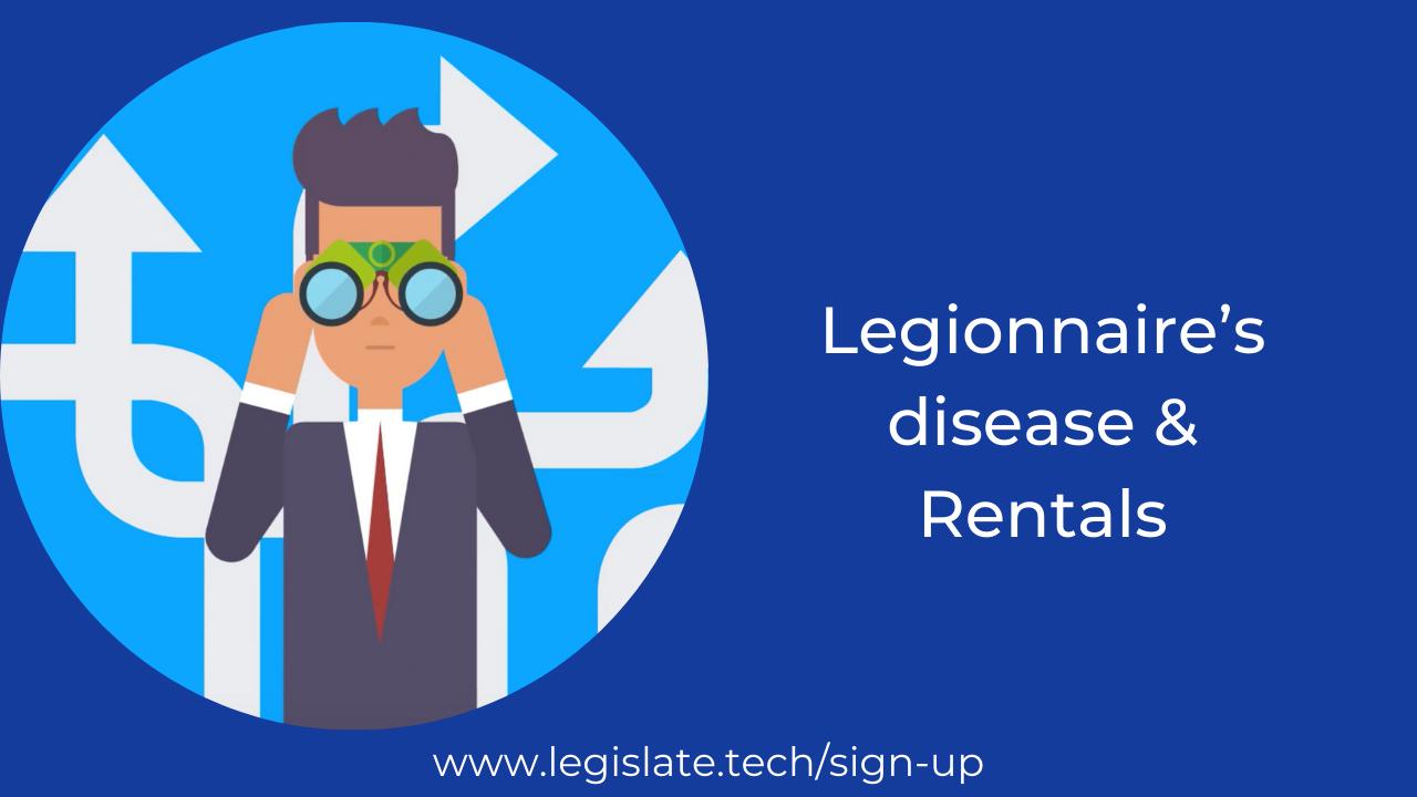 Property management and Legionnaire's disease